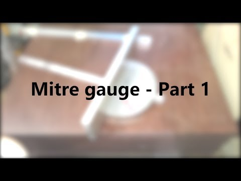 Making a mitre gauge using a face mill