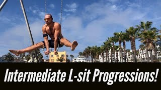 L-sit, V-sit, Straddle L, RTO Straddle L and more! 💪 'Beyond the L-sit' TRAINING AT MUSCLE BEACH 💪