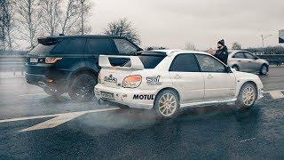 ЗРЯ ШУТИЛИ про СУБАРУ!  SUBARU WRX STI и JEEP SRT против BMW X6M и MERCEDES AMG