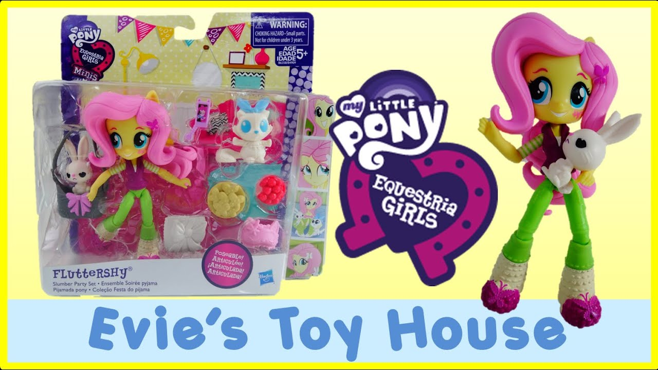 MLP Equestria Girls Minis Unboxing - Pinkie Pie's Slumber Party - Fluttershy Doll | Evies Toy House