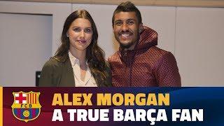 Alex Morgan visits Camp Nou for Barça-Depor