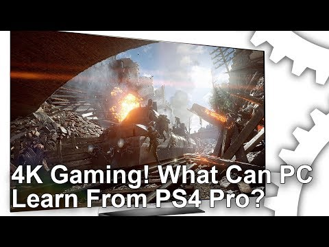[4K] Ultra HD Gaming! What Can PC Learn From PS4 Pro?