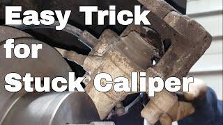 "How to Compress Rear Brake Caliper ""No Special Tools"""