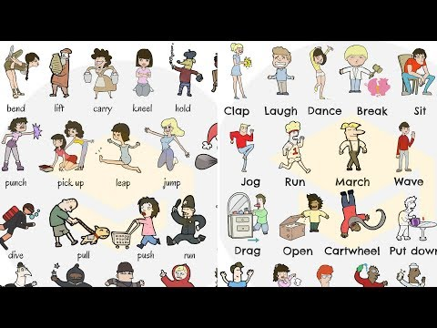 English Verbs Of Body Movement Common Verbs To Express Body Movement For Kids Michelle Ford S 2018 19 C1 1 Course Blog Eoi Fuengirola State Run Language Education