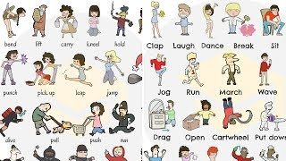 English Verbs of BODY MOVEMENT | Common Verbs to Express Body Movement for Kids