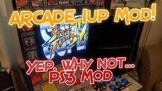 ARCADE 1Up Playstation 3 Mod, Yep why not also add a PS3 to my machine!
