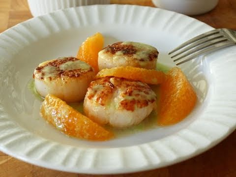 Food Wishes Recipes – Seared Scallops with Jalapeno Vinaigrette and Orange Supremes