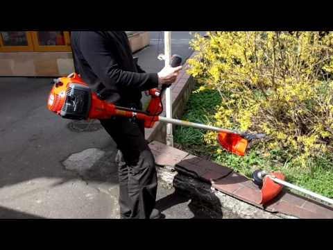 Test the new Husqvarna 555 RXT brushcutter