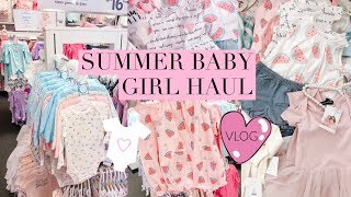 SUMMER TWIN BABY GIRL HAUL! 9 MONTHS!👼🏻👼🏻 SLMissGlamVlogs💕