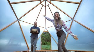Our GEODESIC DOME Is COMPLETE! // Diy Green House