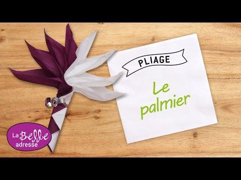 Pliage de serviette en papier en forme de palmier - LaBelleAdresse