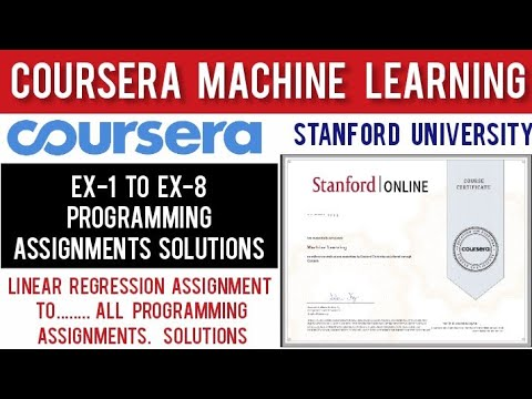 Coursera: Machine Learning Programming Assignment Solutions ...