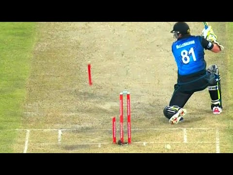 Download Best Destructive Pace Bowling in Cricket ● Stumps Broken ● Stumps Flying in Air ● HD Mp4 3GP Video and MP3