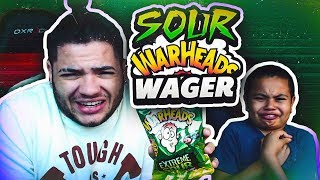 1v1 9 YEAR OLD BROTHER VS MINDOFREZ! SOUR WAR HEAD CHALLENGE! *I ALMOST DIED! NOT CLICKBAIT NBA 2K18