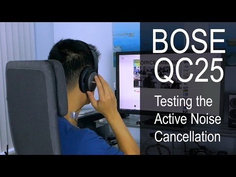 BOSE QuietComfort QC25 - Noise Cancellation Test Demonstration (mini review)