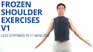 Frozen Shoulder Exercises V1 - Adhesive Capsulitis - Calcific Tendonitis - Shoulder Stiffness