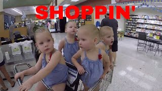 WHAT ITS LIKE TO GROCERY SHOPPING WITH QUADRUPLETS
