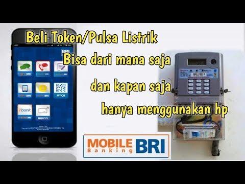 Cara Beli Pulsa Listrik Via Mobile Banking BRI