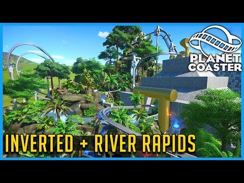 Temple Gods: Inverted Coaster & River Rapids! Planet Coaster: Coaster Spotlight 718