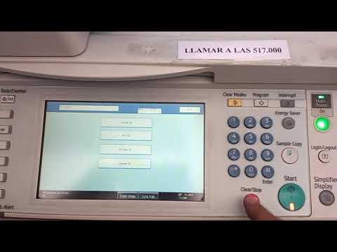 Mp 5001 reset web limpieza