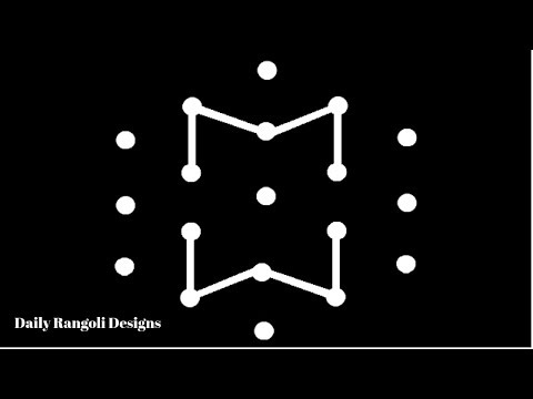 Latest Simple New year Rangoli Designs 2019 #7 | Easy Kolam Muggulu 5X3 Dots | Colour Star Kolangal