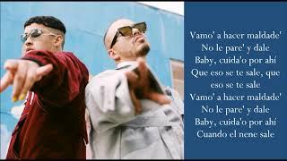 Cuidao Por Ahí   J Balvin & Bad Bunny   (Lyrics)