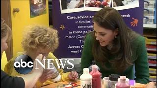 Princess Kate Bonds With Kids at Children