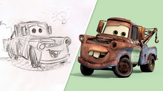 How to Draw Mater from Cars | Draw With Pixar