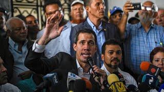 """El venezolano Guaido respalda la huelga, le dice a Maduro que """"la presión apenas comienza"""""""