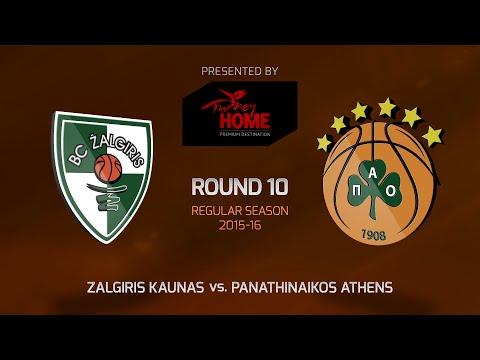 Highlights: RS Round 10, Zalgiris Kaunas 72-75 Panathinaikos Athens