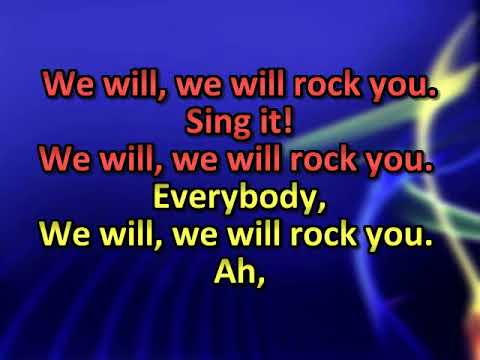 Queen   We will rock you 1 6 7 [karaoke]