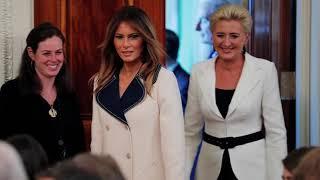 Кто краше: Меланья Трамп встретилась с первой леди Польши в Белом доме