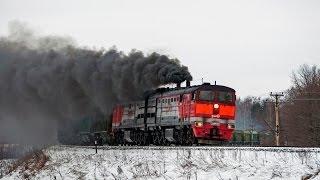 2ТЭ10М-3651 (Армёнки) / 2TE10M-3651 (RZD, Armenki). Super sound and smoke. 10D100 diesel.