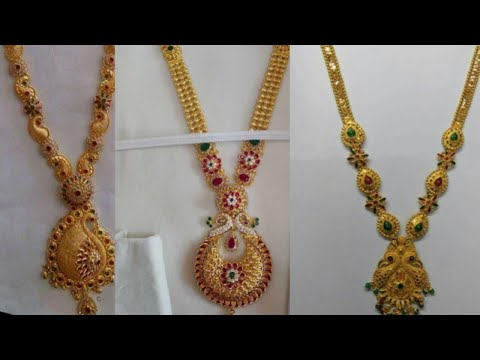 Gold mini haram collection with weight & all details in telugu |#goldharam