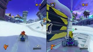 Crash Team Racing: Nitro Fueled -- split screen race