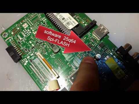TELEFUNKEN T32TX189DLBP LED TV repair software. tv does not start. LED light power only. as flash