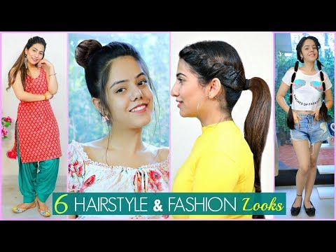 6 Easy HAIRSTYLE & FASHION Looks For Teenage/College Girls | #Partylook #Beauty #Anaysa