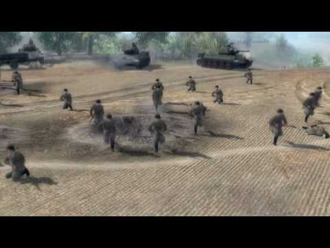 Men of War - World War Two real time video game trailer 2 - PC