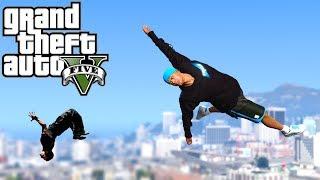 Grand Theft Auto V: GTA 5 - Parkour Fails # 18 (Parkour Wins & Fails, Police Escape, Police Chase)