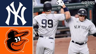 New York Yankees @ Baltimore Orioles | Game Highlights | 4/27/21
