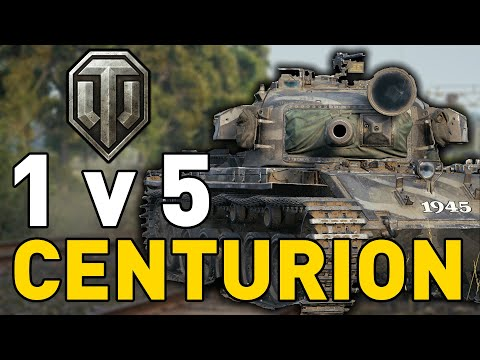 Centurion Goes 1 v 5 in World of Tanks!