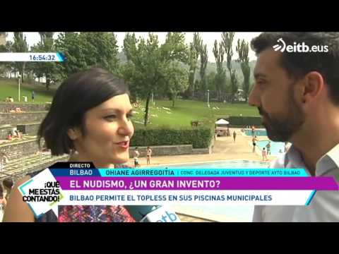 El nudismo y el topless, factibles en las piscinas de Bilbao