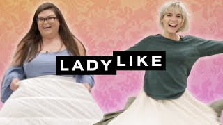 We Wore Hoopskirts For A Day • Ladylike - Video Youtube