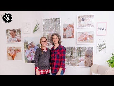 DIY - GALLERY WALL selber machen | Gewinnerprojekt MAKEOVER Wohnzimmer | Geschenkidee Handlettering