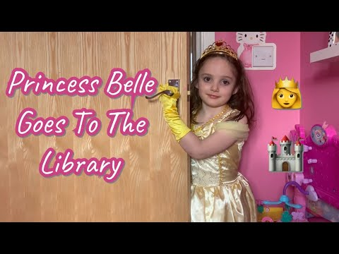 Disney Princess Belle goes to the library