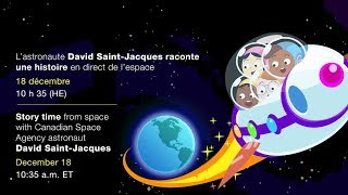 LIVE – David Saint-Jacques reads our brand new e-book from space!