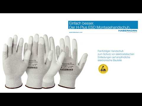 Montagehandschuhe H-Plus ESD