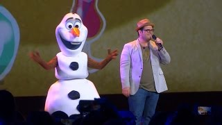 "Josh Gad and Olaf perform ""In Summer"" at Frozen FANdemonium, D23 Expo 2015"