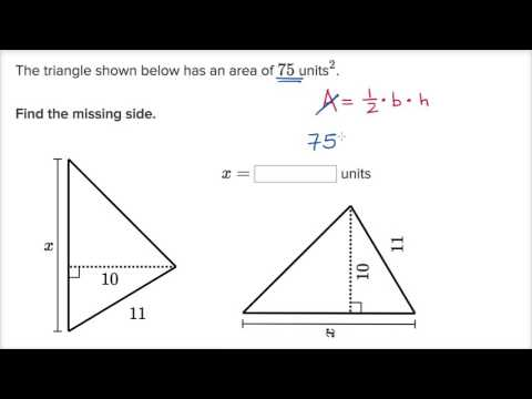 Triangle missing side example (video) Khan Academy