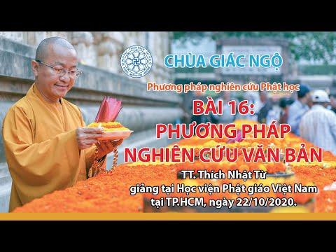 Phương pháp nghiên cứu văn bản - Phương pháp nghiên cứu Phật học